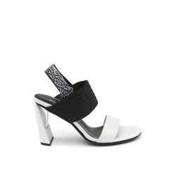 Zink Slingback Hi Black White Mix