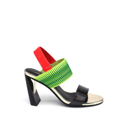 Zink Slingback Hi Disco/Neon Lime/Neon Red