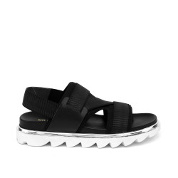 Aqua Sandal Mens Black