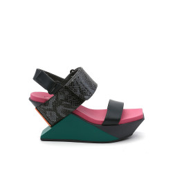 Delta Wedge Sandal Candy Snake