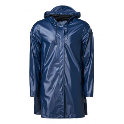 A-line Jacket Shiny Blue