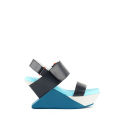 Delta Wedge Sandal Blue Beat